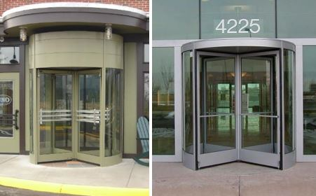 Dimensional Elements on Revolving Doors
