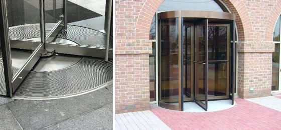 Flooring and Awnings are Critical to Revolving Door Design