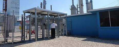 Full height turnstile at refinery