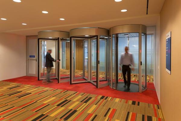 Security doors and portals for regulatory compliance